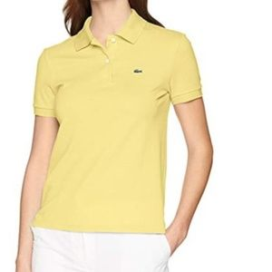 Lacoste 46 (US 14) Bright Yellow Pique Polo Shirt